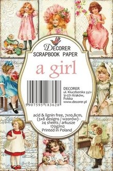 Decorer A Girl Paper Pack (7x10,8cm) (M67)