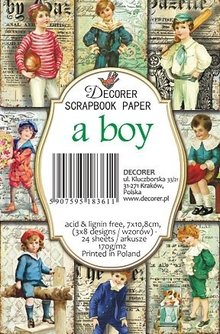 Decorer A Boy Paper Pack (7x10,8cm) (M68)