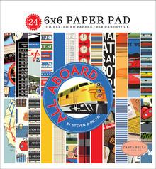 Carta Bella All Aboard 6x6 Inch Paper Pad (CBAA101023)