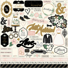 Echo Park Wedding Day 12x12 Inch Element Stickers (WD181014)