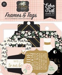 Echo Park Wedding Day Ephemera Frames & Tags (WD181025)
