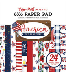 Echo Park America the Beautiful 6x6 Inch Paper Pad (ATB192023)