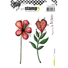 Carabelle Studio 2 Flowers Cling Stamps (SA60352)