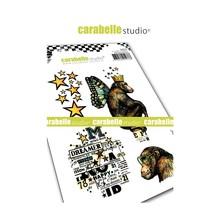 Carabelle Studio Monkey Cling Stamps (SA60434)