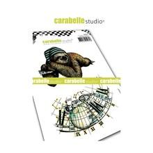 Carabelle Studio Paresseux Cling Stamps (SA60437)