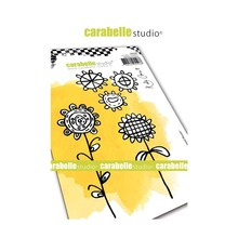 Carabelle Studio Crayoned Florals Cling Stamps (SA60448)
