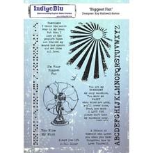 IndigoBlu Biggest Fan A5 Rubber Stamp (IND0530)