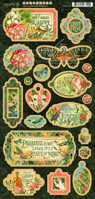 Graphic 45 Lost in Paradise Chipboard (4501895)