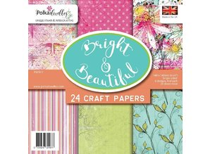 Polkadoodles Bright & Beautiful 6x6 Inch Paper Pack (PD7917)