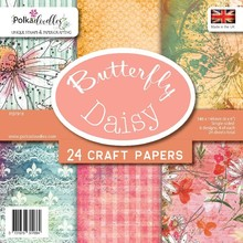 Polkadoodles Butterfly Daisy 6x6 Inch Paper Pack (PD7918)