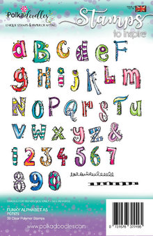 Polkadoodles Funky Alphabet Clear Stamps (PD7879)
