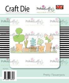 Polkadoodles Pretty Flowerpots Die (PD7551)