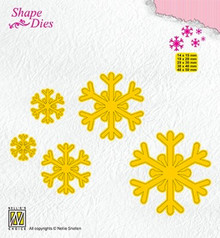 Nellie Snellen Shape Die Snowflakes (SD168)