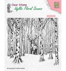 Nellie Snellen Deer in Forest Clear Stamp (IFS017)
