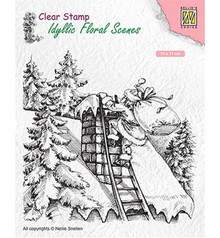 Nellie Snellen Santa Claus at Work Clear Stamp (IFS018)