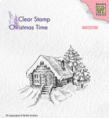 Nellie Snellen Cosily Snowy Cottage Clear Stamp (CT030)