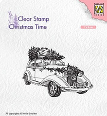 Nellie Snellen Christmas Tree Transport Clear Stamp (CT031)