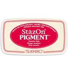 Tsukineko StazOn Pigment Passion Red (SZ-PIG-21)