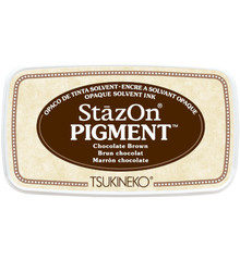 Tsukineko StazOn Pigment Chocolate Brown (SZ-PIG-41)