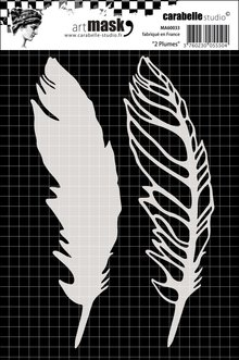 Carabelle Studio Feathers A6 Masking Stencil (MA60033)