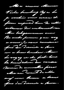 Carabelle Studio Texte Manuscrit A6 Masking Stencil (TE60039)