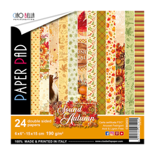 Ciao Bella Papercrafting The Sound Of Autumn 6x6 Inch Paper Pad (CBQ023)