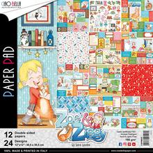 Ciao Bella Papercrafting Zoe & Ziggy 12x12 Inch Paper Pad (CBPM025)