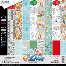 Ciao Bella Papercrafting Zoe & Ziggy 12x12 Inch Patterns Pad (CBT025)