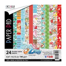 Ciao Bella Papercrafting Zoe & Ziggy 6x6 Inch Paper Pad (CBQ025)