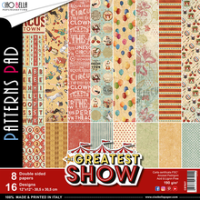 Ciao Bella Papercrafting The Greatest Show 12x12 Inch Patterns Pad (CBT027)