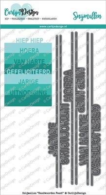 CarlijnDesign Snijmal Randwoorden Feest (CDSN-0011)