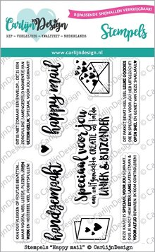 CarlijnDesign Clear Stamps Happy Mail (CDST0026)