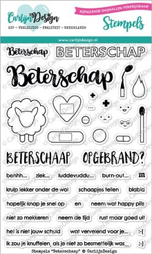 CarlijnDesign Clear Stamps Beterschaap (CDST0022)