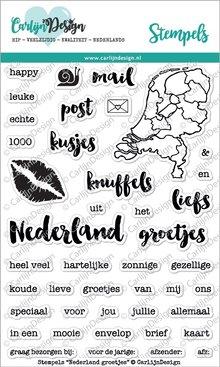 CarlijnDesign Clear Stamps Nederland Groetjes (CDST0005)