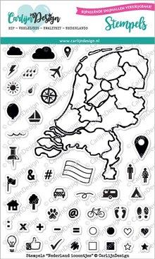 CarlijnDesign Clear Stamps Nederland Icoontjes (CDST0006)