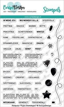 CarlijnDesign Clear Stamps Fijne Feestdagen (CDST0007)