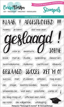 CarlijnDesign Clear Stamps Geslaagd & Succes (CDST0028)