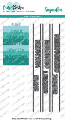 CarlijnDesign Snijmal Randwoorden Zomer (CDSN-0021)
