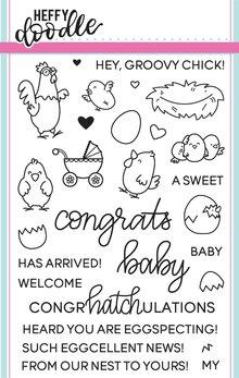 Heffy Doodle Eggcellent News Stamps (HFD0029)