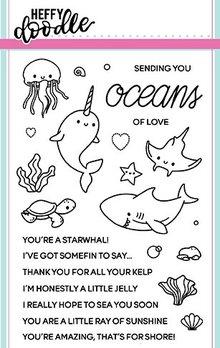 Heffy Doodle Oceans of Love Stamps (HFD0042)