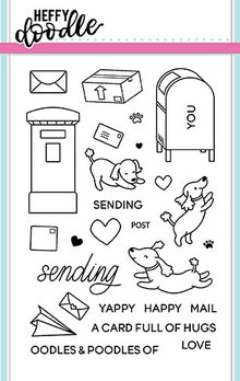 Heffy Doodle Yappy Happy Mail Stamps (HFD0052)