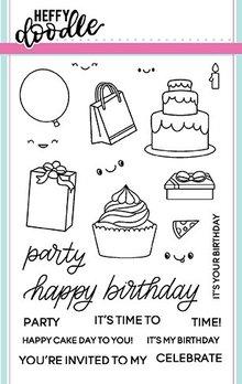 Heffy Doodle Party Palooza Stamps (HFD0060)