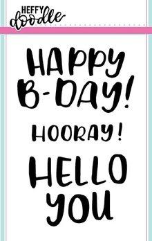 Heffy Doodle Big Bold Words Stamps (HFD0063)
