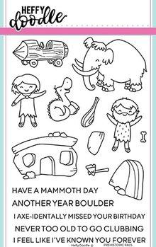 Heffy Doodle Prehistoric Pals Stamps (HFD0069)