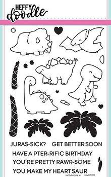 Heffy Doodle Dino Time Stamps (HFD0071)