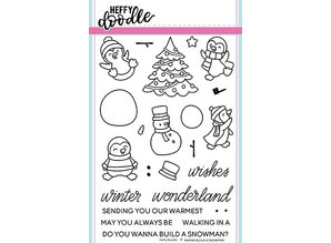 Heffy Doodle Wanna Build A Snowman Stamps (HFD0087)