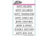 Heffy Doodle Holiday Sentiment Duos Stamps (HFD0091)