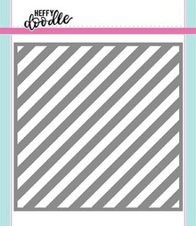 Heffy Doodle Candy Store (Thin Diagonal Stripes) Stencil (HFD0095)