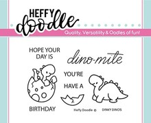 Heffy Doodle Dinky Dinos Stamps (HFD0107)