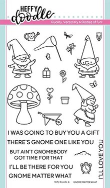 Heffy Doodle Gnome Matter What Stamps (HFD0116)